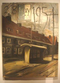 Marcel van Eeden, busabri in Den Haag (olieverf, 1992)