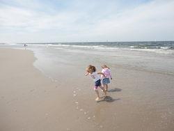 't Stille strand, totaan Hoek van Holland, niets meer te zien