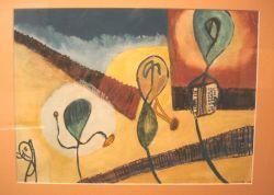 Raymond Queneau (1903-1976) tekent ''Het orkest''.