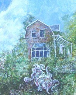 schilderiji van de vader: voorvaderlijk huis met dreiging