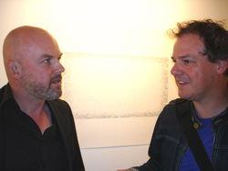 Marcel van Eeden onlangs in Kunsthal KAdE, hier met Frank Halmans
