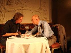 Wim Brands en Nop Maas gisteravond in Pulchri